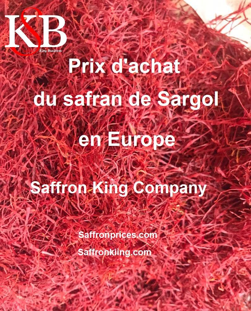 Prix d'achat du safran de Sargol en Europe